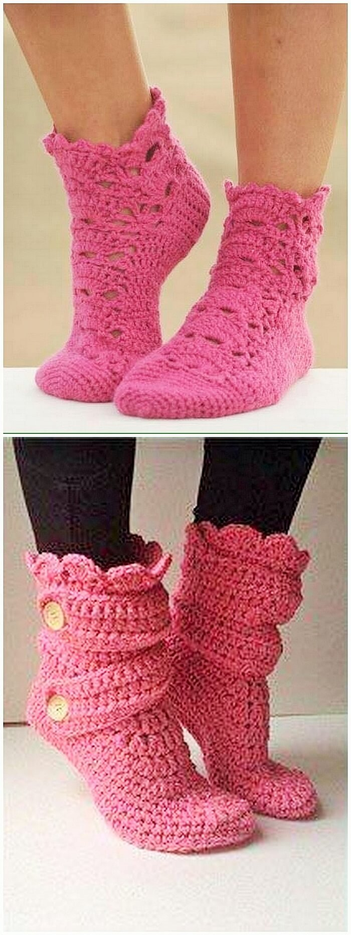 Crochet shoe craft idea
