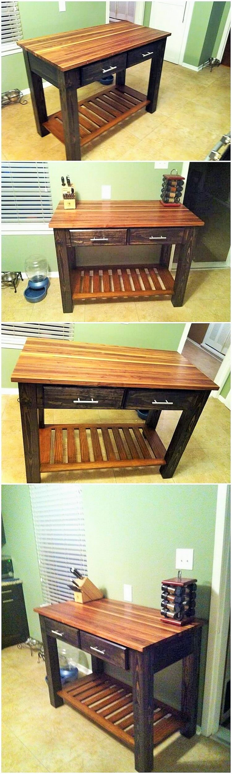 wooden kitchen banch (2)