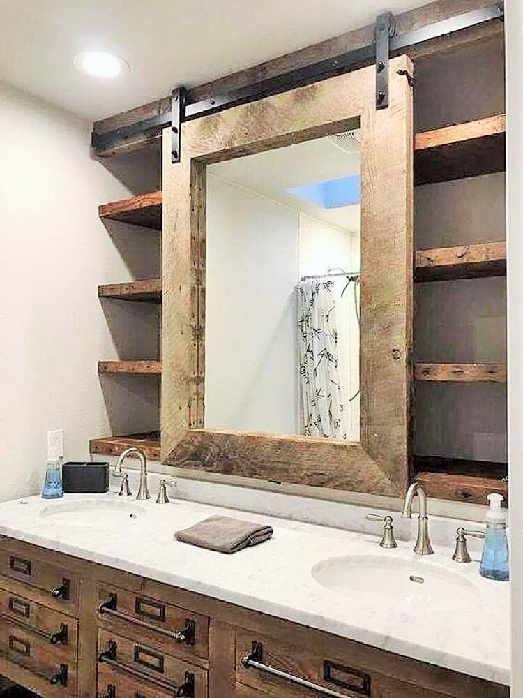 wooden pallet Washroom idea