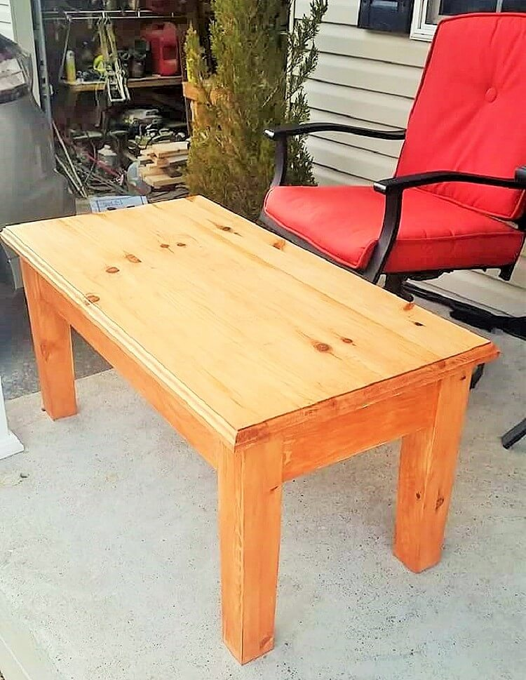 wooden single cooffee table