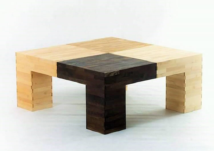 wooden small cooffee table