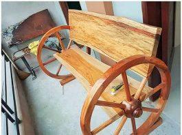 wooden unicq banch