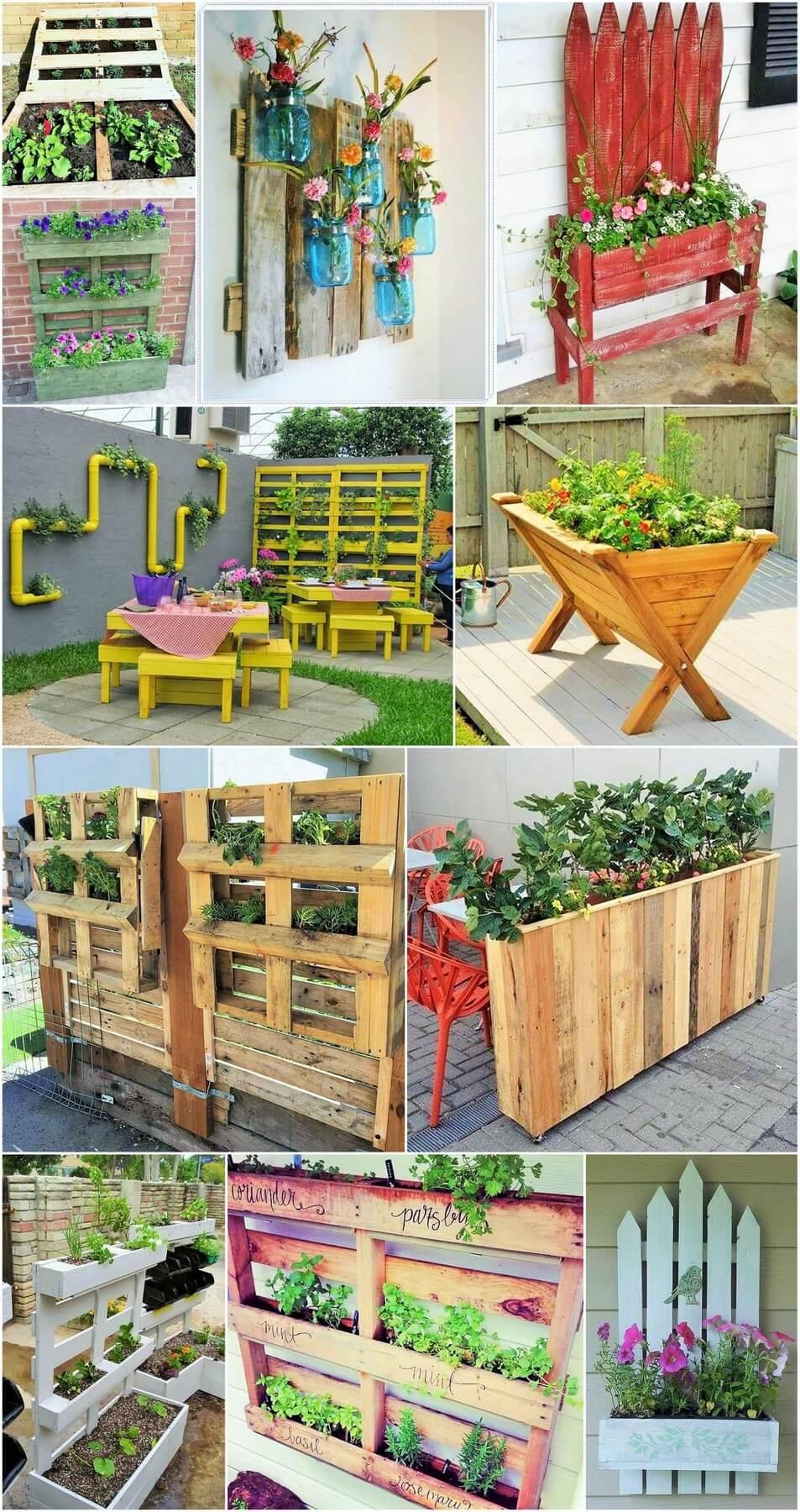 Homemade DIY Wooden Pallet Small Planter Ideas