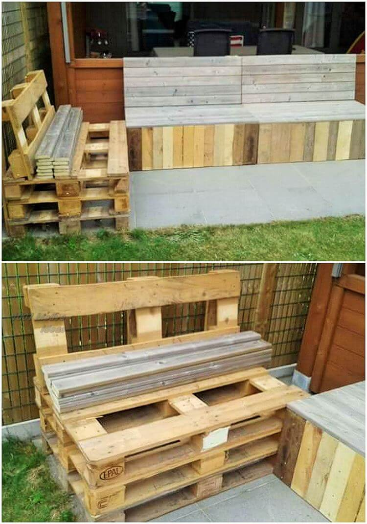 Diy- pallet into an outdoor bench- 02