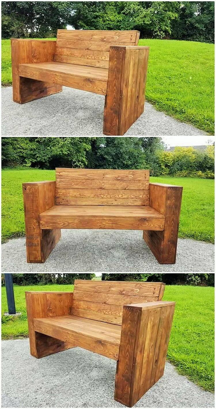 Diy- pallet into an outdoor bench- 05