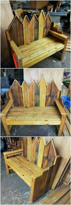 Diy- pallet into an outdoor bench- 07