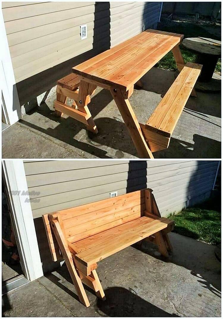 Diy- pallet into an outdoor bench- 08