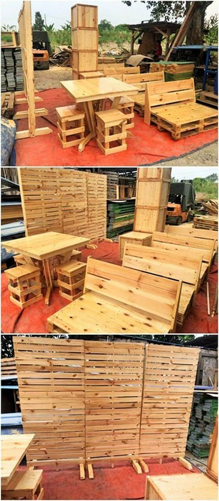 Diy- pallet into an outdoor bench- 09