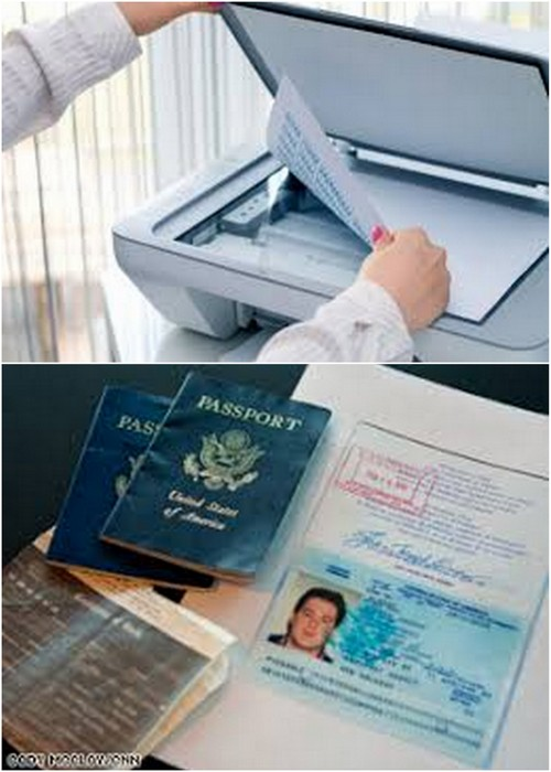 passport and important documents