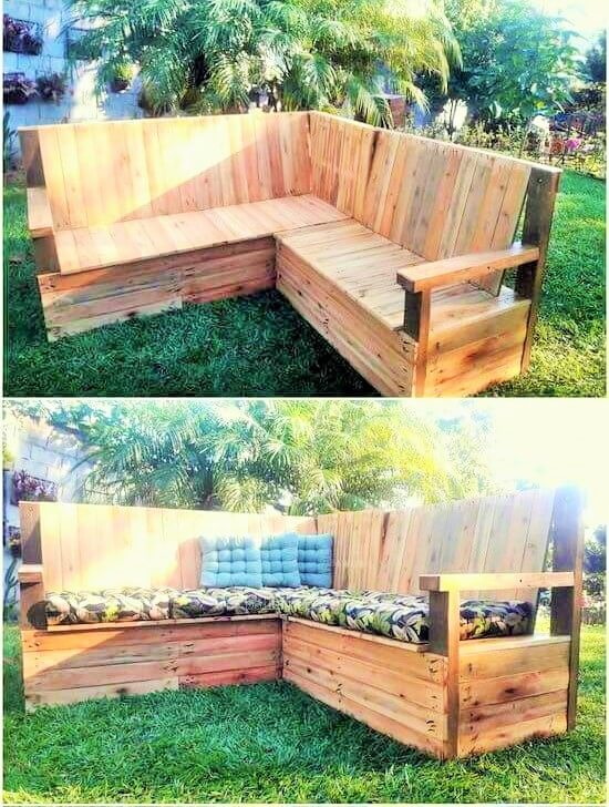 Build a wooden pallets sofa and bench- (10)