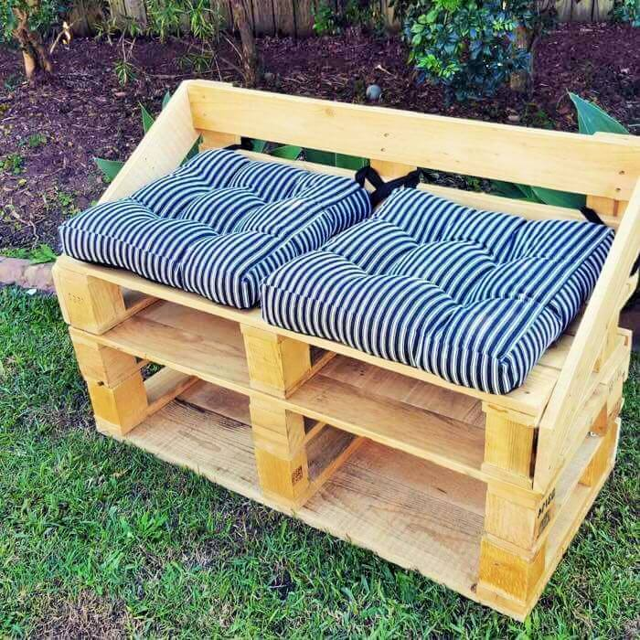 Build a wooden pallets sofa and bench- (13)