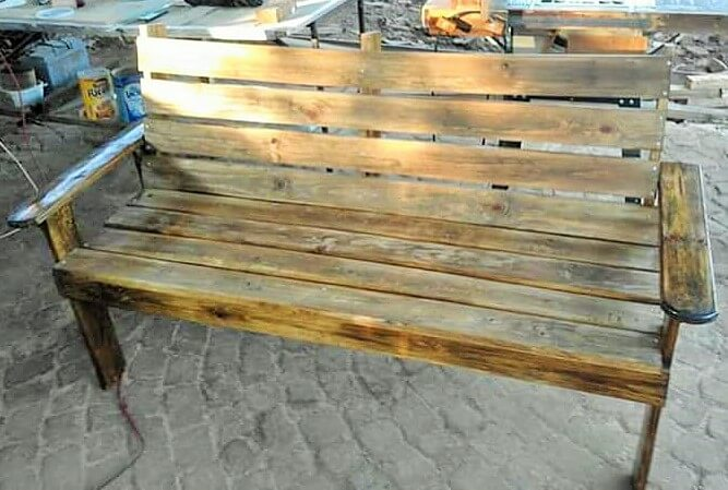 Build a wooden pallets sofa and bench- (22)