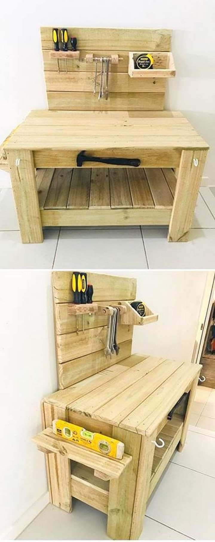 Build a wooden pallets sofa and bench- (24)