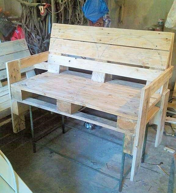 Build a wooden pallets sofa and bench- (25)