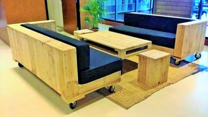 Build a wooden pallets sofa and bench- (26)