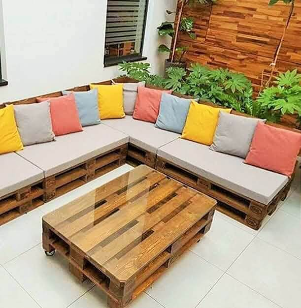 Build a wooden pallets sofa and bench- (29)