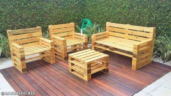Build a wooden pallets sofa and bench- (6)