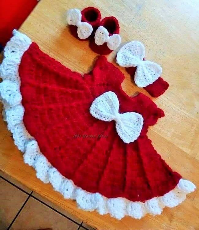 Crochet baby dress pattern free easy-11