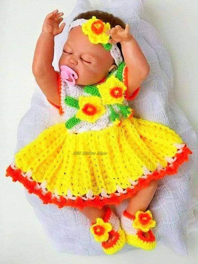 Crochet baby dress pattern free easy-12