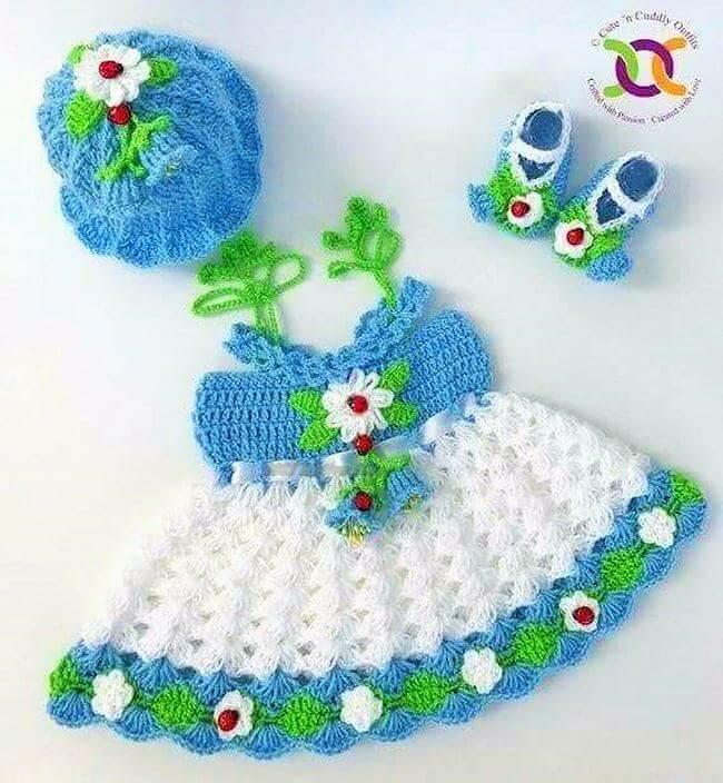 Crochet baby dress pattern free easy-13
