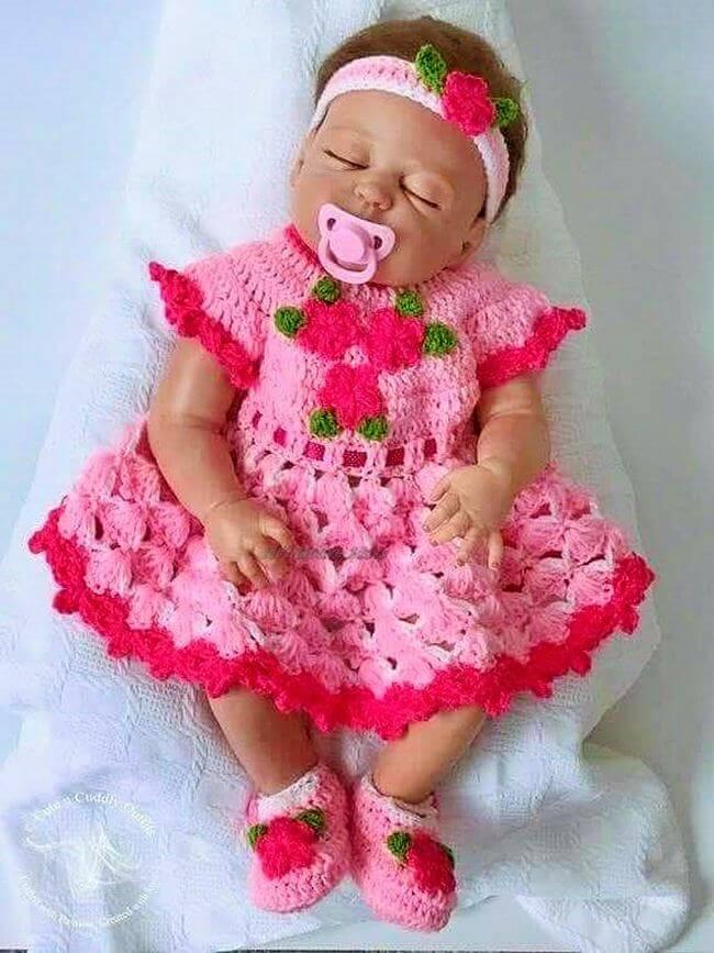 Crochet baby dress pattern free easy-14