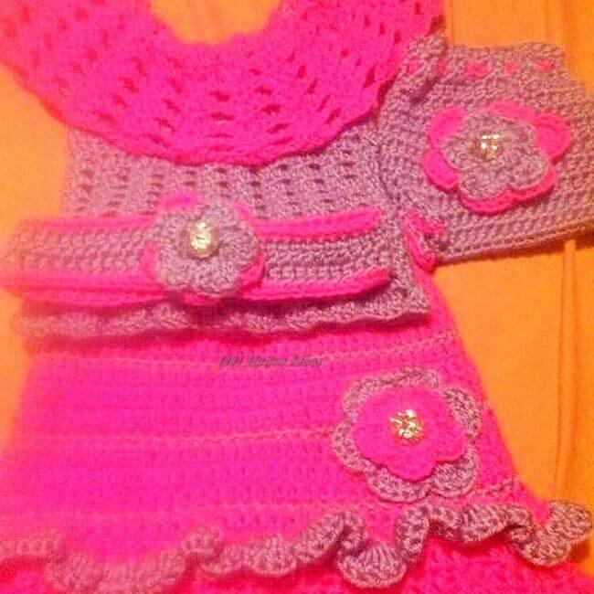 Crochet baby dress pattern free easy-2