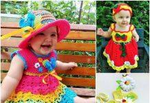 Crochet baby dress pattern free easy