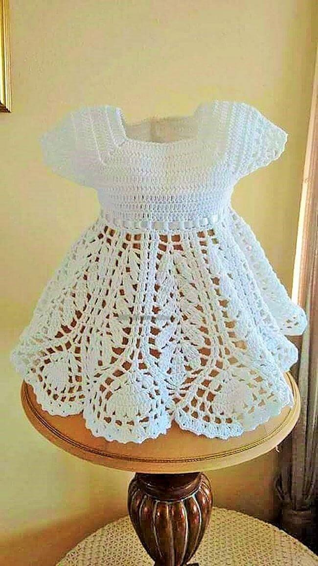 Crochet baby dress pattern free easy-3