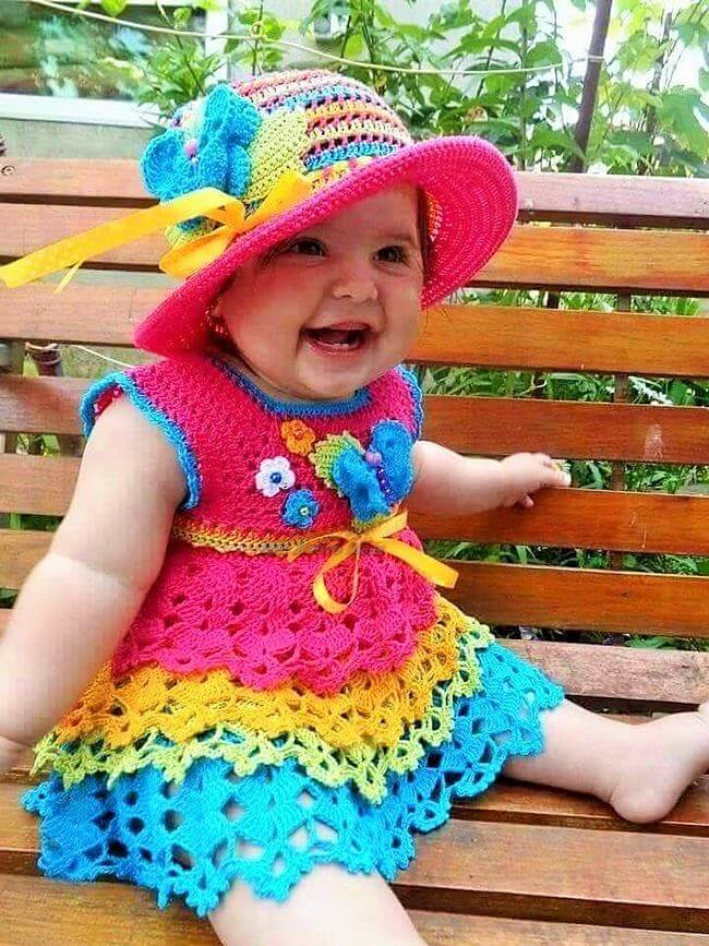 Crochet baby dress pattern free easy-4