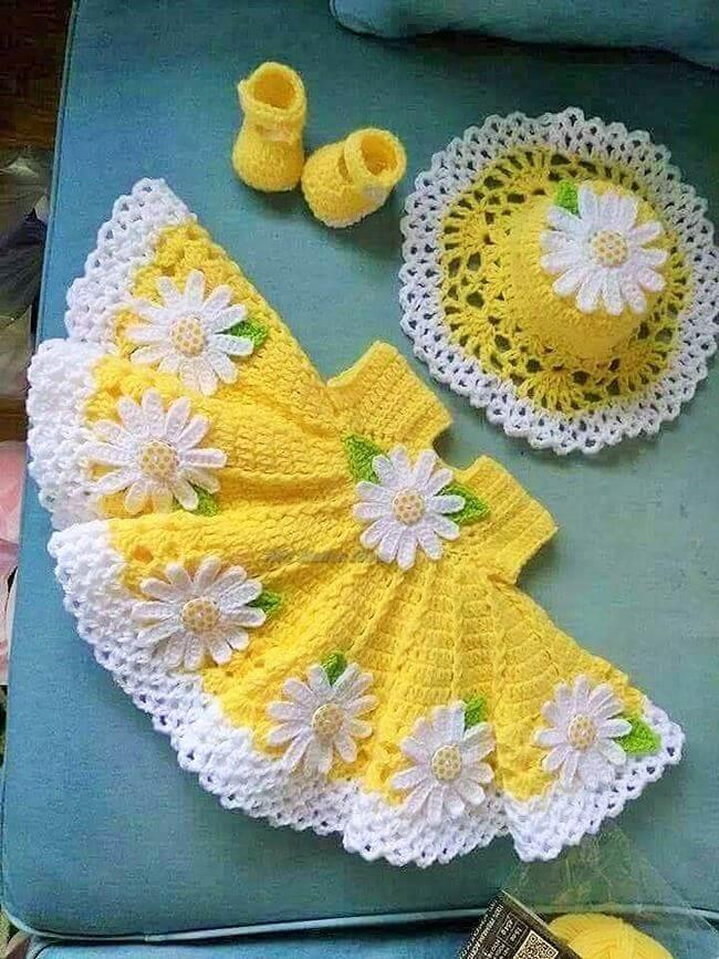 Crochet baby dress pattern free easy-5