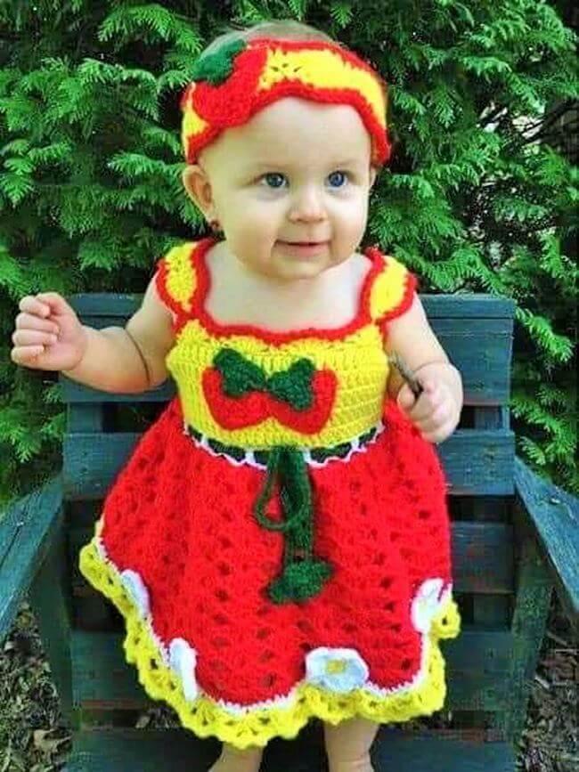 Crochet baby dress pattern free easy-8