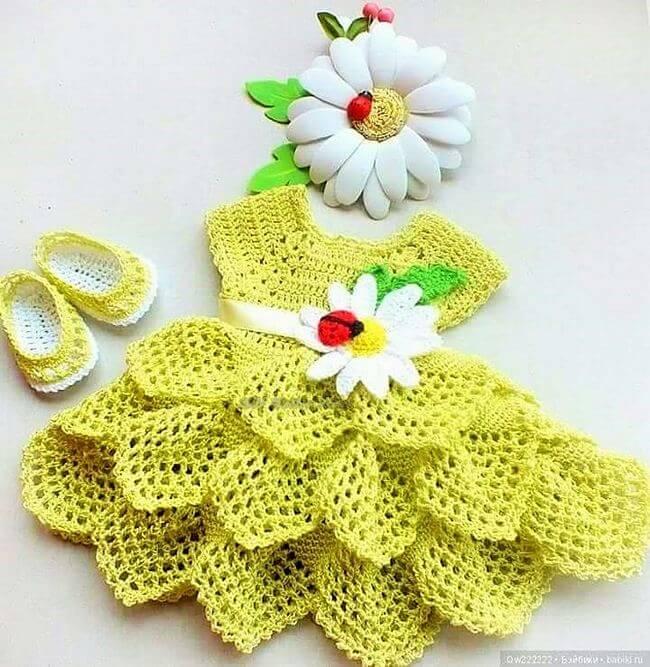 Crochet baby dress pattern free easy-9