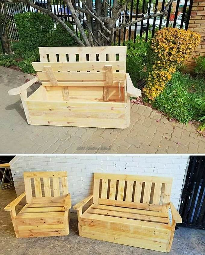 Top-ways of turning pallets into furniture- (17)